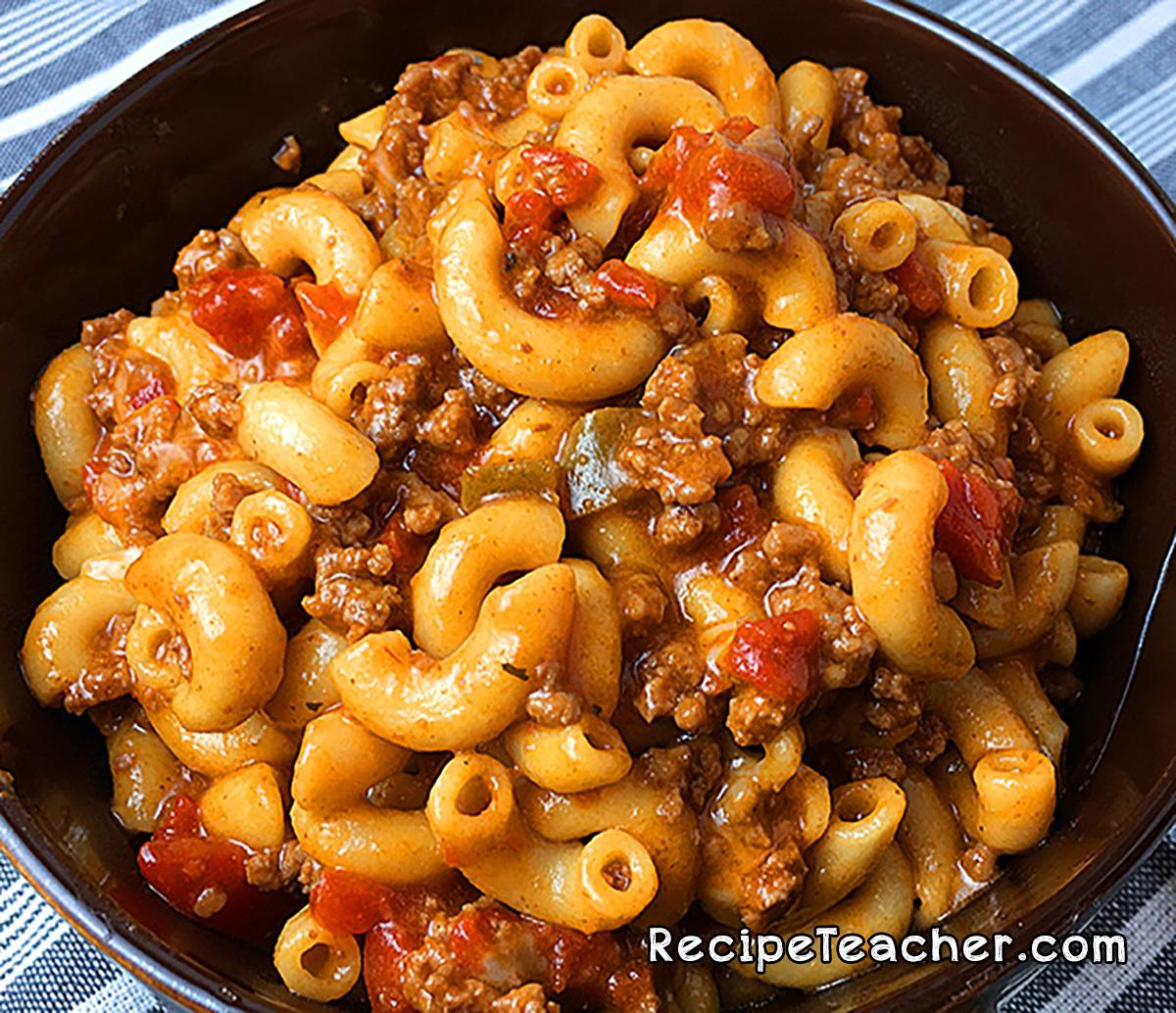 Instant Pot chili mac recipe.