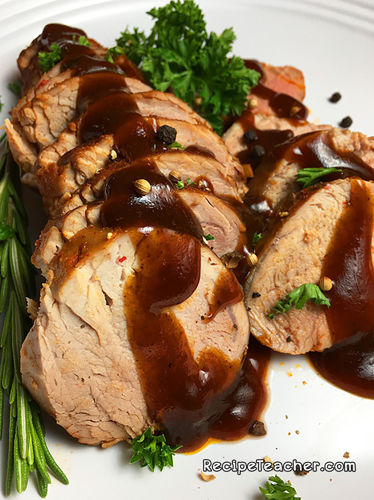 Recipe for Instant Pot pork tenderloin.