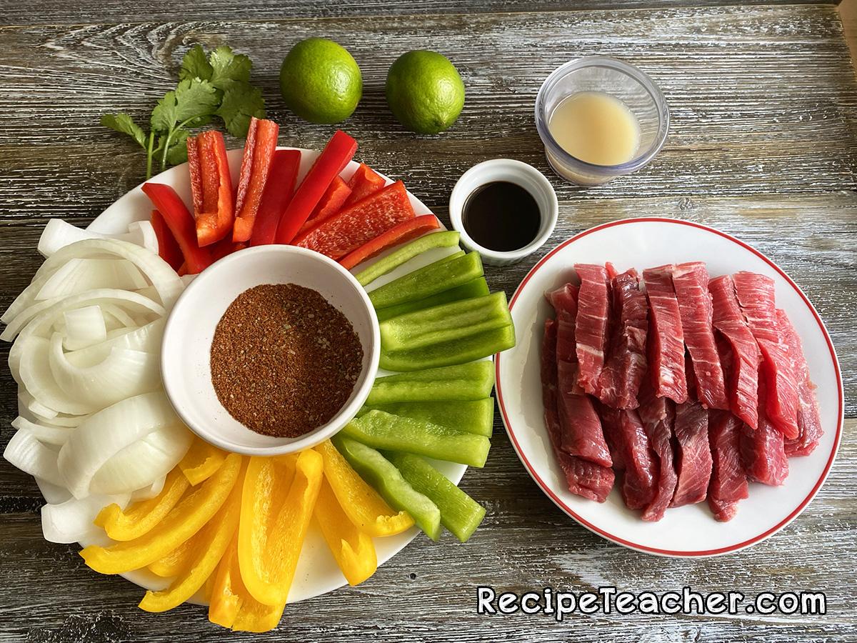 Recipe for air fryer steak fajitas