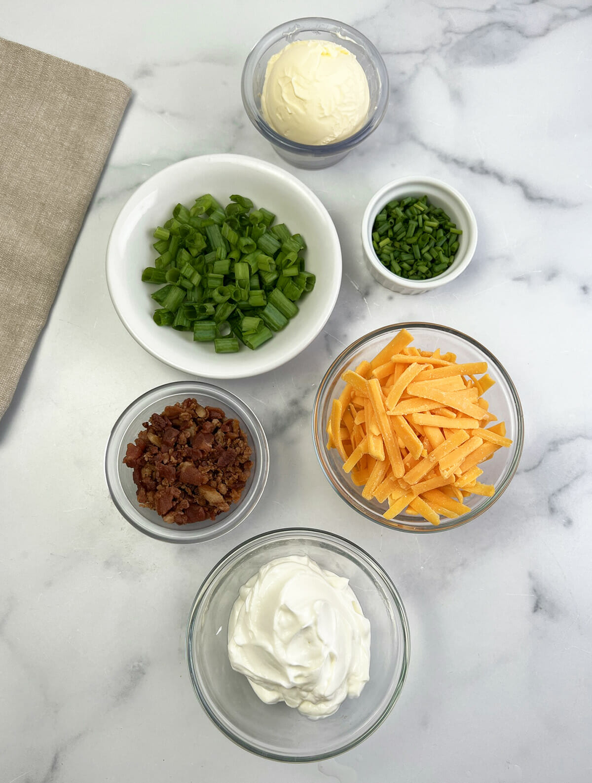 Toppings for air fryer baked potatoes